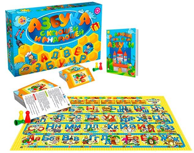 Настольная игра BrainBox Азбука с Ксюшей и Андрюшей цена и фото