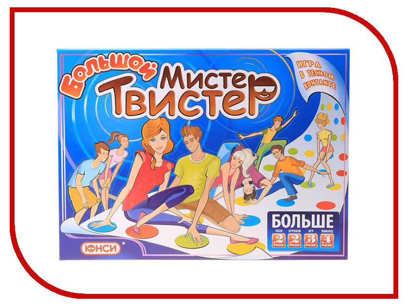 Настольная игра ЮНСИ Большой Мистер Твистер 0911241RU<br>
