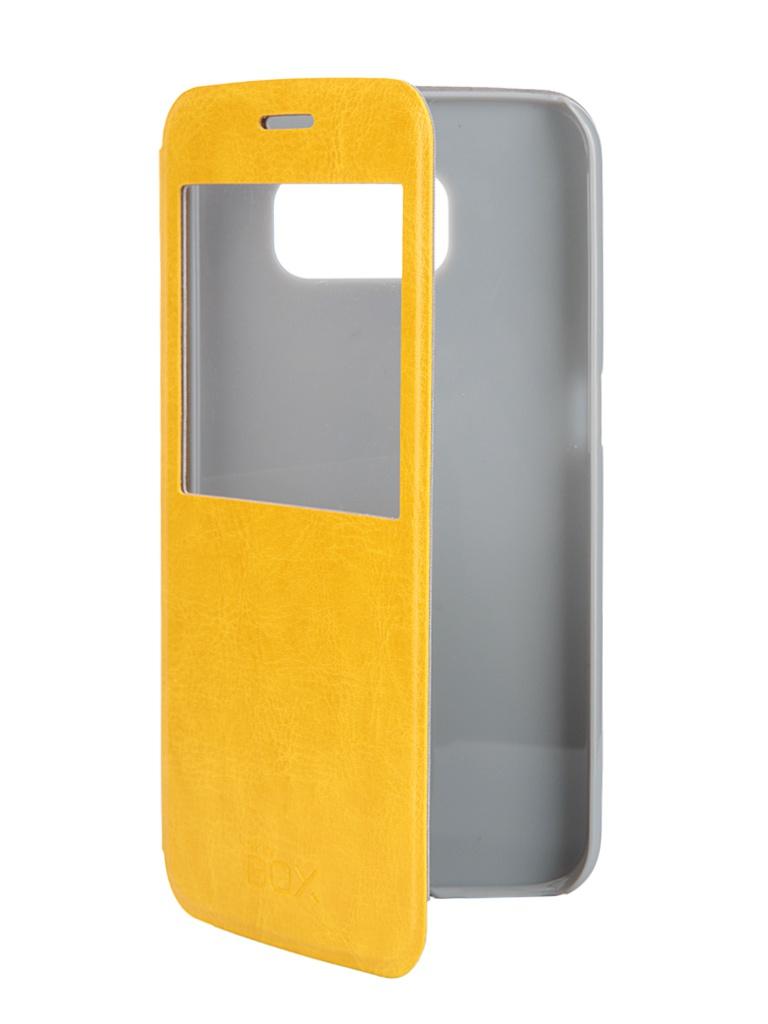 Аксессуар Чехол Samsung Galaxy S6 SkinBox Lux AW Yellow T-S-SGS6-004<br>