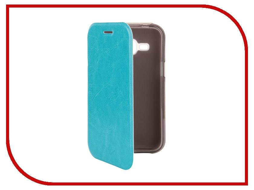 Аксессуар Чехол Samsung J1 3G DS SkinBox Lux Blue T-S-SJ1-003<br>