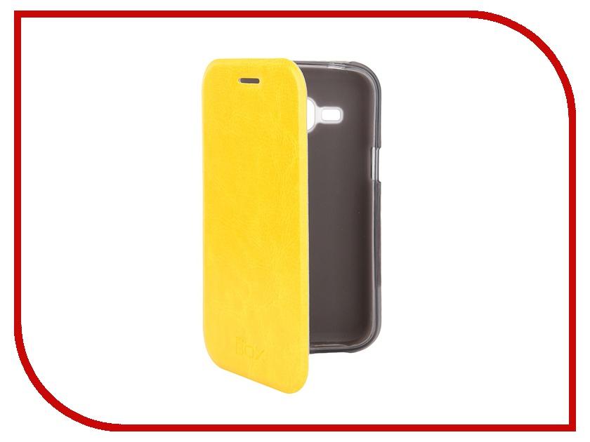 Аксессуар Чехол Samsung J1 3G DS SkinBox Lux Yellow T-S-SJ1-003<br>