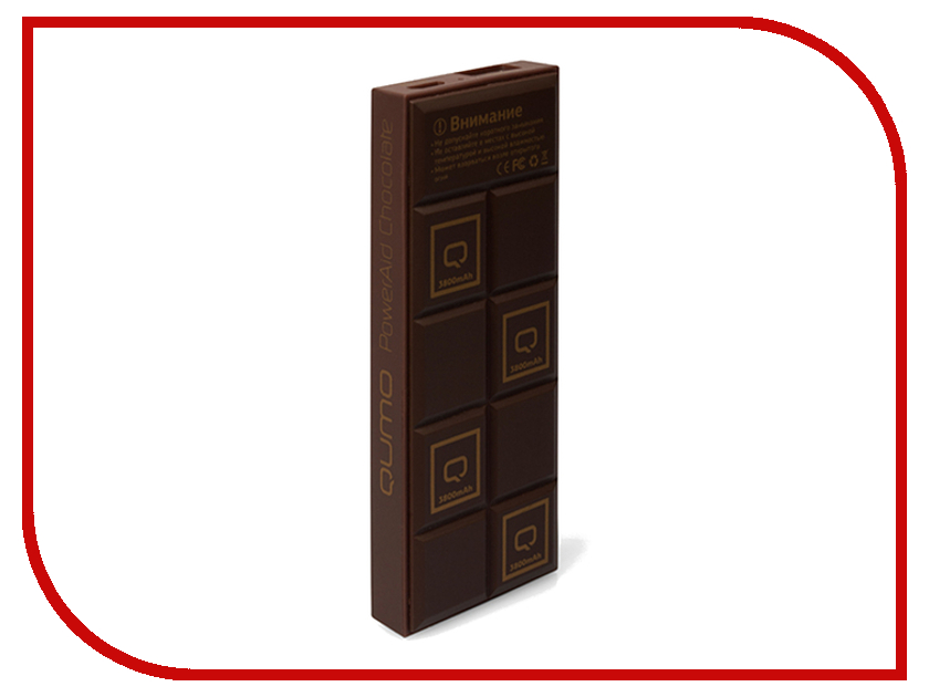 Аккумулятор Qumo PowerAid 3800mAh Chocolate<br>