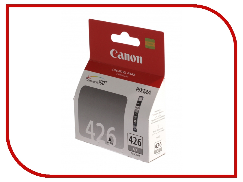 Картридж Canon CLI-426GY Grey для Pixma MG6140/MG8140 4560B001 t2 ic cpgi 425bk картридж для canon pixma ip4840 mg5140 mg6140 mg8140 mx884 black