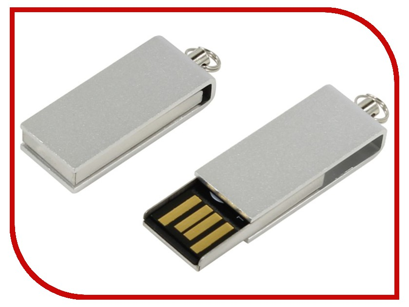 USB Flash Drive 8Gb - Iconik Свивел for Your Logo Silver MT-SWS-8GB<br>