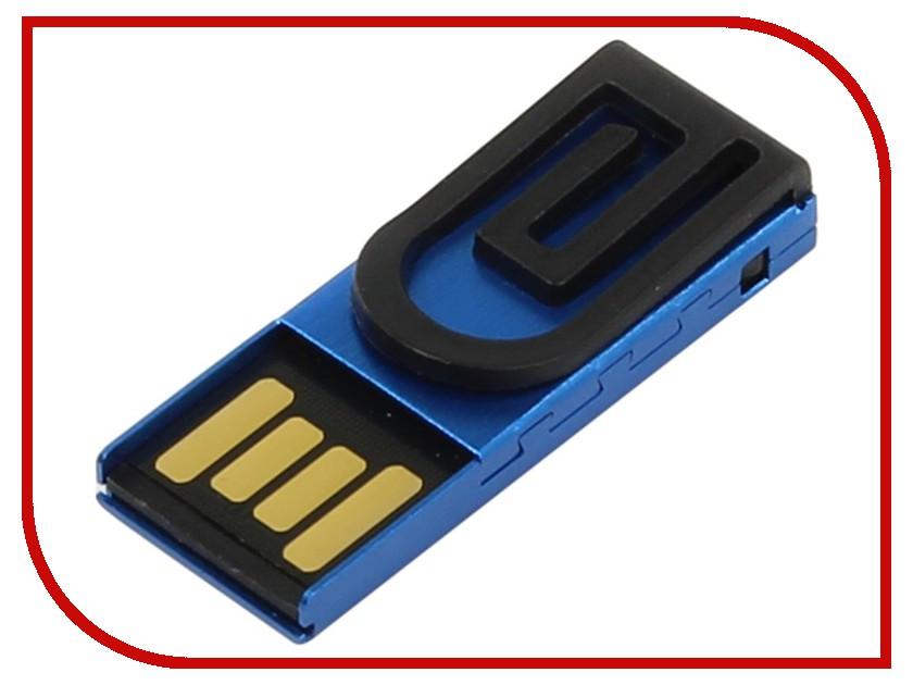 USB Flash Drive 8Gb - Iconik Зажим for Your Logo Blue MTPL-CLAMPB-8GB<br>
