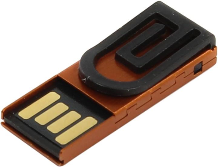 USB Flash Drive 8Gb - Iconik Зажим for Your Logo Orange MTPL-CLAMPO-8GB<br>