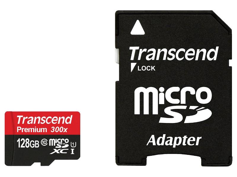 Карта памяти 128Gb - Transcend - Micro Secure Digital XC Class 10 UHS-I TS128GUSDU1 с переходником под SD карта памяти 8gb transcend micro secure digital hc uhs i u3 class 10 ts8gusd500s с переходником под sd