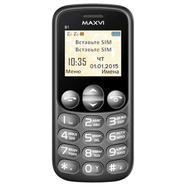цена Сотовый телефон Maxvi B1 Black