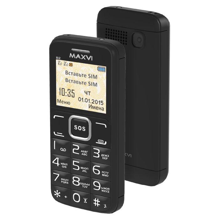 Сотовый телефон Maxvi B2 Black цена