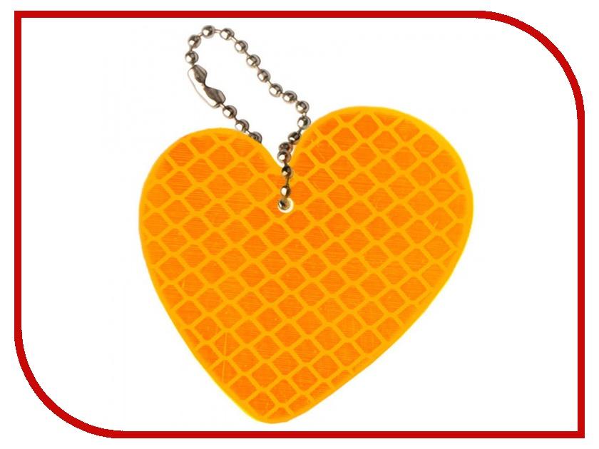 Светоотражатель Cova Подвеска Любовь Orange 55x55mm 333-052