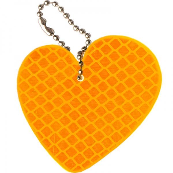 Светоотражатель Cova Подвеска Любовь Orange 55x55mm 333-052<br>