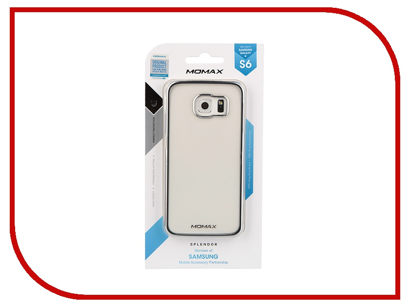 Аксессуар Чехол-накладка Samsung G920F Galaxy S6 MOMAX Splendor Case CXSAS6CS Silver
