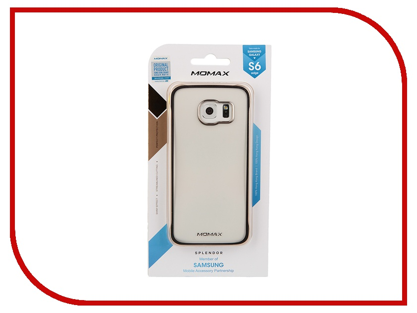 Аксессуар Чехол-накладка Samsung G925F Galaxy S6 Edge MOMAX Splendor Case Golden CXSAS6ECL<br>