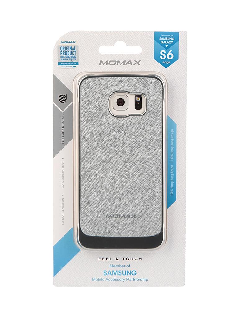 Аксессуар Чехол Samsung Galaxy S6 Edge MOMAX Feel n Touch Case Silver FTSAS6EPUS<br>