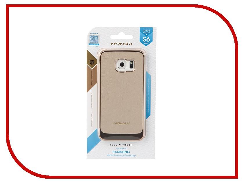 Аксессуар Чехол-накладка Samsung G925F Galaxy S6 Edge MOMAX Feel n Touch Case Golden FTSAS6EPUL<br>