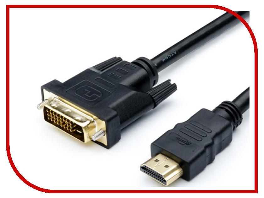 Аксессуар ATcom DVI-HDMI 1.8m Black АТ3808