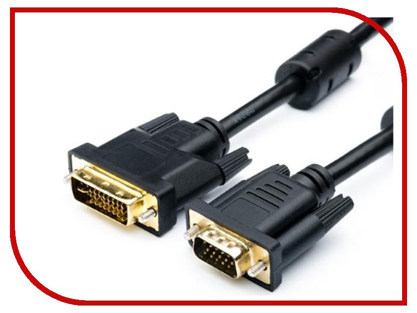 Аксессуар ATcom VGA -DVI-I DE-15Hd 1.8m Black АТ16143