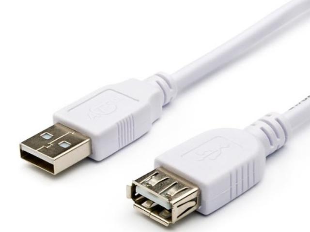 Аксессуар ATcom USB 2.0 AM-AF 5m White АТ4717