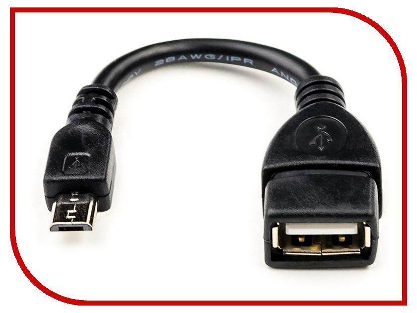 Аксессуар ATcom USB 2.0 AF - Micro 5P OTG 0.8m АТ16028 аксессуар continent usb micro usb black otg 1020bk