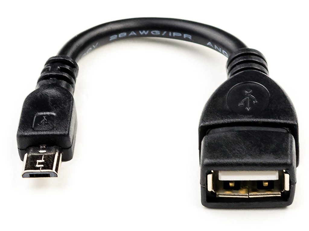 Аксессуар ATcom USB 2.0 AF - Micro 5P OTG 0.8m АТ16028