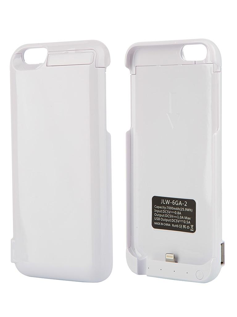 Аксессуар Чехол-аккумулятор Aksberry 6GA-2 7000 mAh для iPhone 6 White
