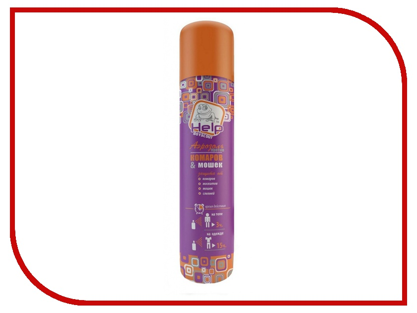 Средство защиты от комаров Boyscout Help 80223 - аэрозоль от комаров и мошек 200 мл