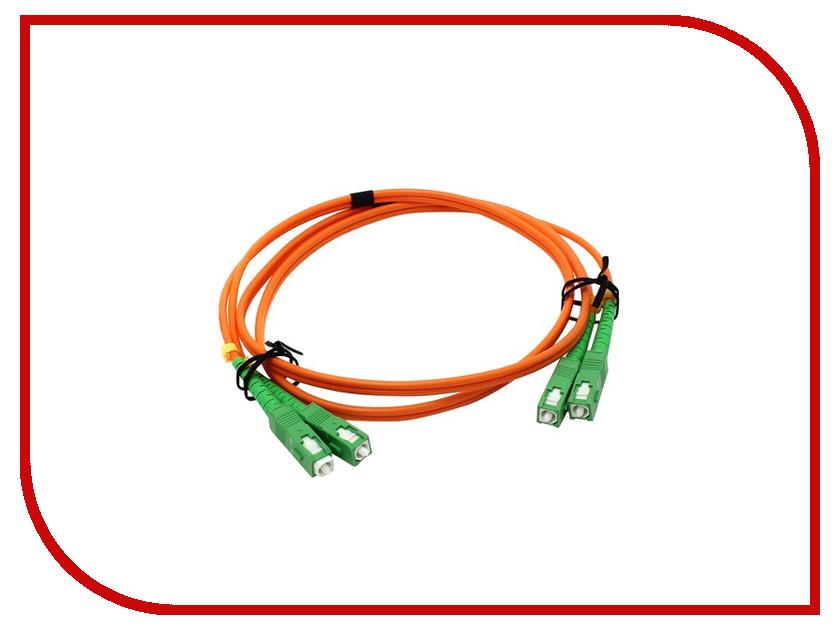 Сетевой кабель VCOM Optical Patch Cord SC-SC Duplex 1m VDA202-1M