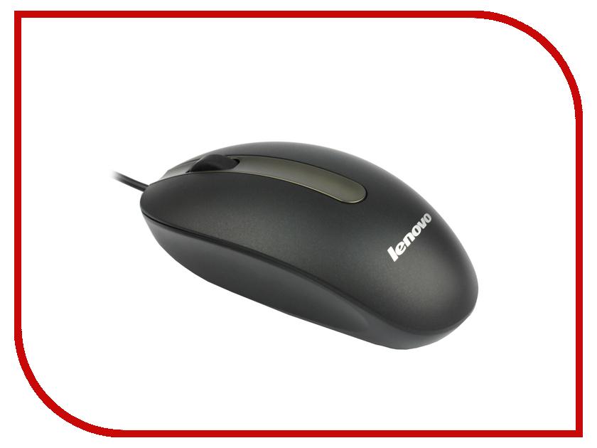 Мышь проводная Lenovo Optical Mouse M3803A WW-B Black 888012413