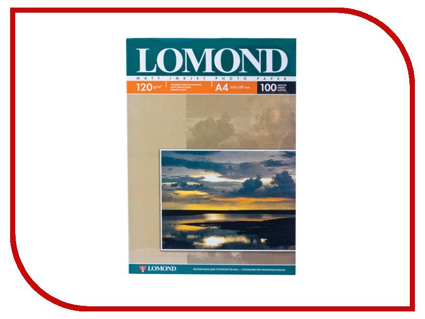 Фотобумага Lomond A4 120g/m2 матовая односторонняя 100 листов 0102003