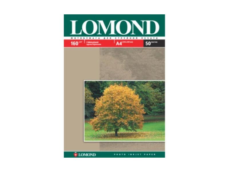 Фотобумага Lomond А4 160g/m2 глянцевая односторонняя 50 листов 102055