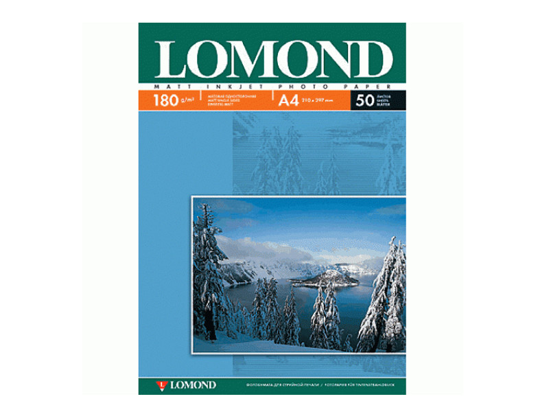 Фото - Фотобумага Lomond А4 180g/m2 матовая односторонняя 50 листов 102014 фотобумага