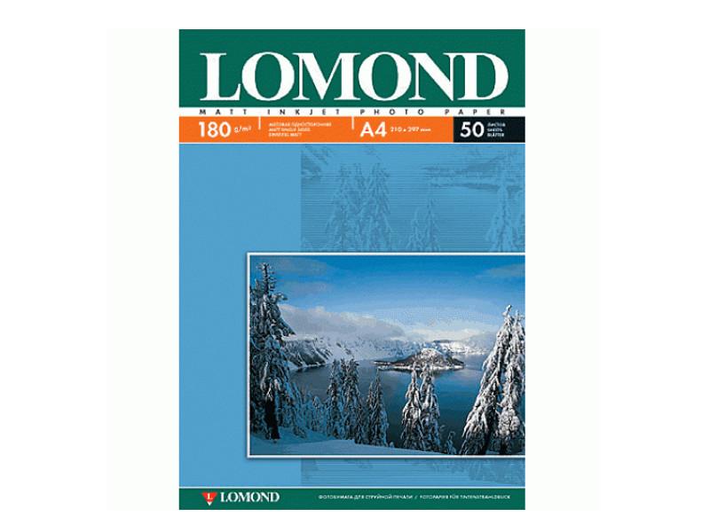 цена на Фотобумага Lomond А4 180g/m2 матовая односторонняя 50 листов 102014