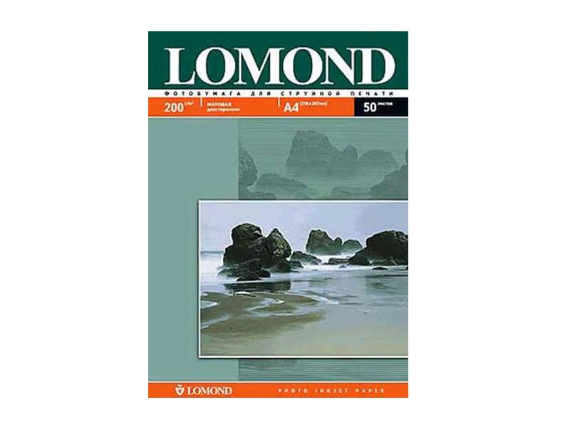 Фотобумага Lomond А4 200g/m2 матовая двусторонняя 50 листов 102033
