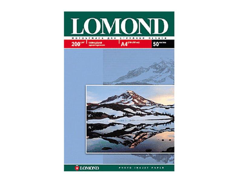 Фотобумага Lomond А4 200g/m2 глянцевая односторонняя 50 листов 102020