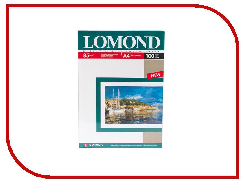 Фотобумага Lomond 0102145 глянцевая 85g/m2 А4 односторонняя 100 листов
