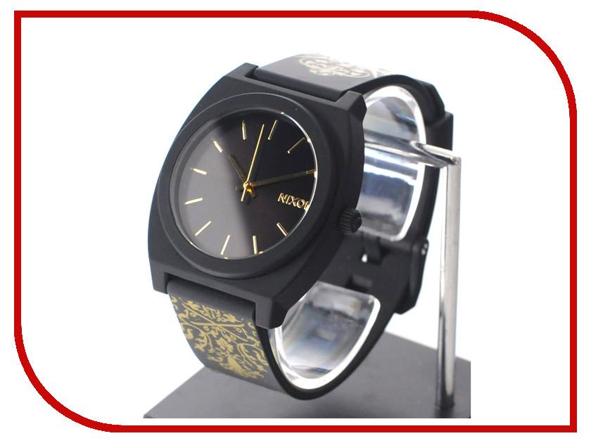 Часы наручные аналоговые Nixon Time Teller P Black-Gold Ornate