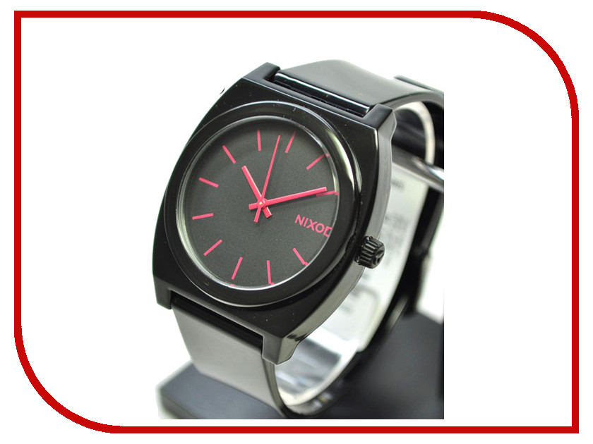 Часы Nixon Time Teller P Black-Bright Pink<br>