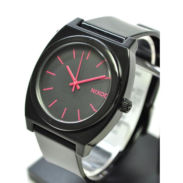 Часы Nixon Time Teller P Black-Bright Pink цена