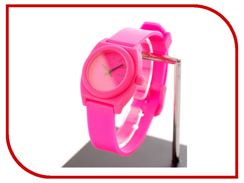 Часы наручные аналоговые Nixon Small Time Teller P Hot Pink