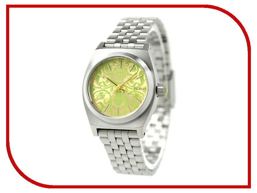 Часы наручные аналоговые Nixon Small TIME Teller Silver-Yellow Neon Beetlep