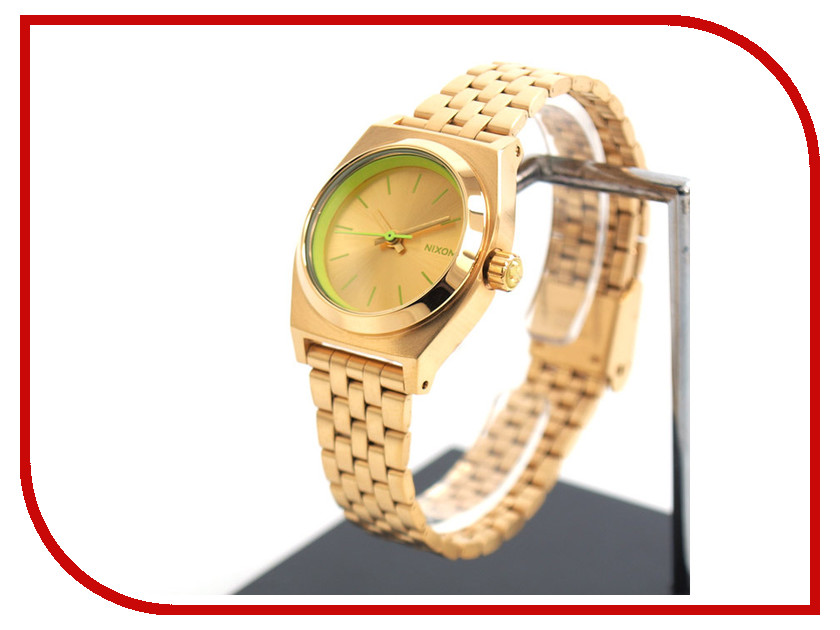 Фото Часы Nixon Small TIME Teller Gold-Yellow Neon часы nixon time teller p dark red ano