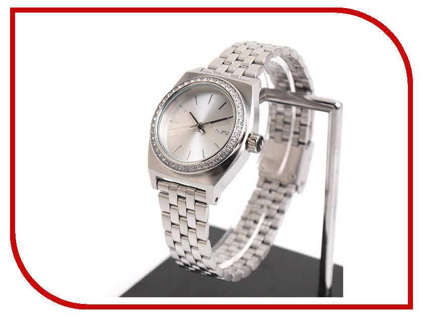 Часы Nixon Small Time Teller All Silver Crystal