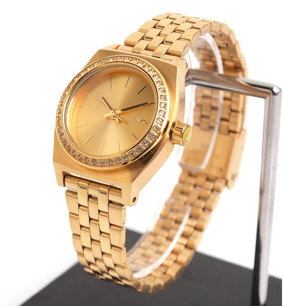 Часы Nixon Small Time Teller All Gold Crystal<br>