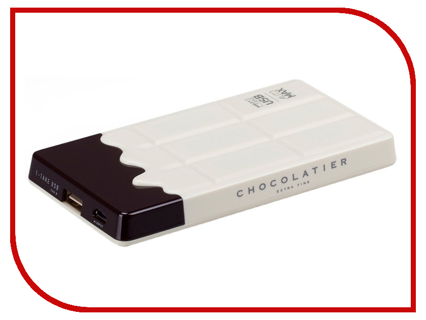 Аккумулятор MOMAX iPower Chocolatier 7000 mAh IP37 White<br>