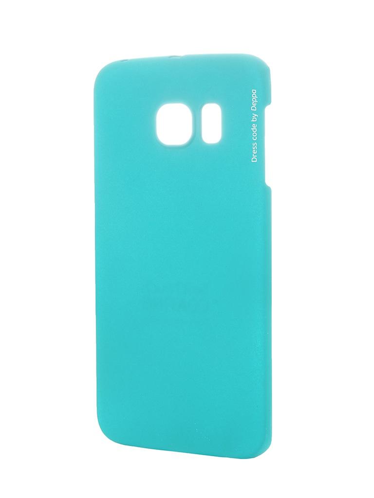 Аксессуар Чехол-накладка Deppa для Samsung G925F Galaxy S6 Edge Air Case Green защитное стекло для samsung g925f galaxy s6 edge onext изогнутое по форме дисплея с прозрачной рамкой