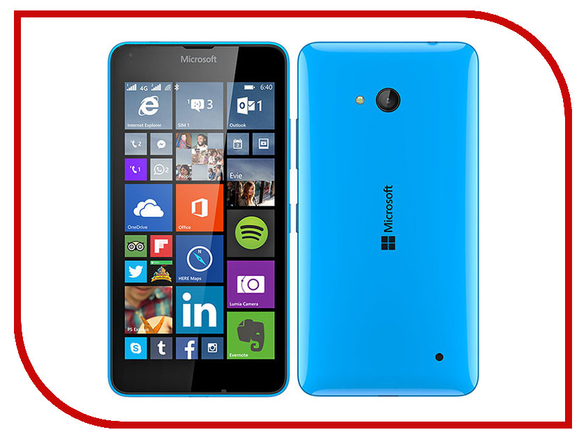Сотовый телефон Microsoft 640 Lumia LTE Dual Sim Cyan<br>