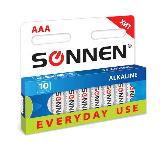Батарейка AA - SONNEN 451086 LR6 Everyday use (10 штук)<br>