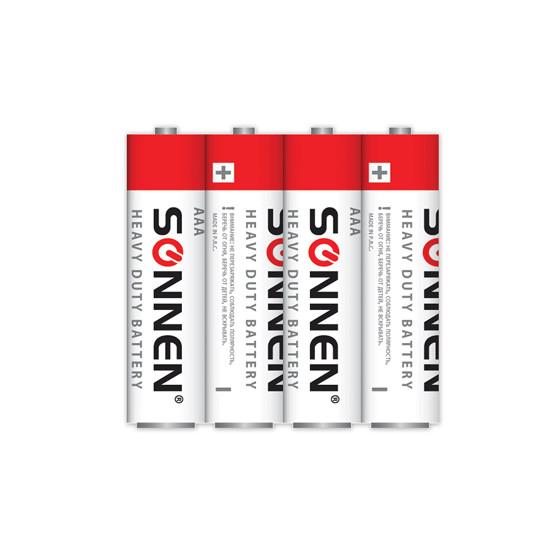 Батарейка AAA - SONNEN 451098 R03 Heavy Duty (4 штуки)