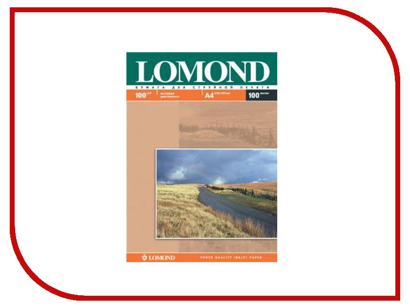 Фотобумага Lomond A4 100g/m2 матовая 100 листов 0102002 lomond lomond 1100202