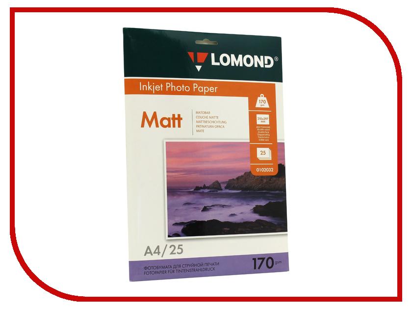 Фотобумага Lomond A4 170g/m2 матовая 25 листов 0102032